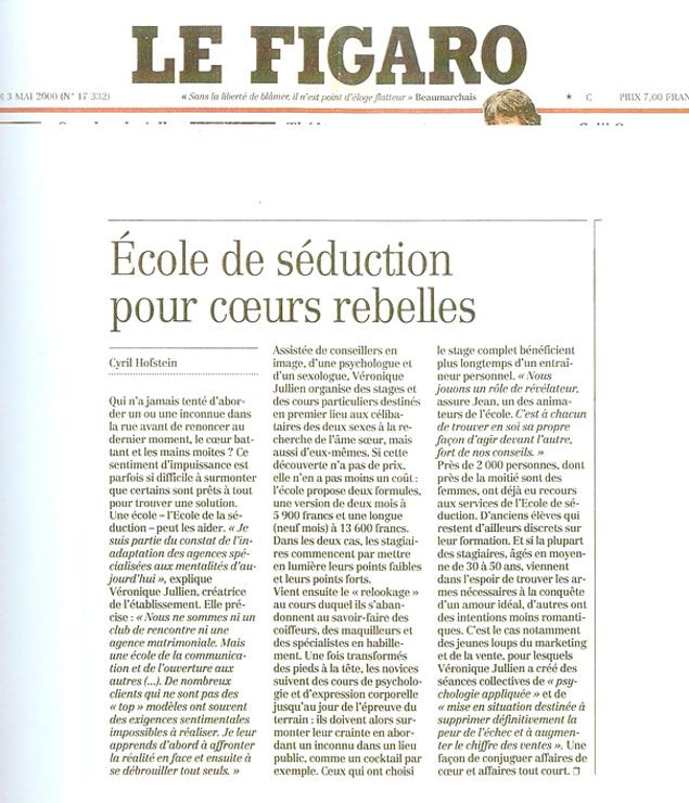 Journal Le figaro, Mai 2000